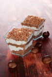 Chestnut puree dessert. Stock Images