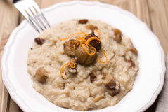 Chestnut risotto with blue cheese Royalty Free Stock Photography