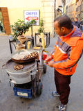 Chestnut seller Royalty Free Stock Photography