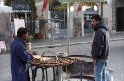 Chestnut seller Stock Image
