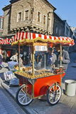 Chestnut seller in Istanbul Stock Images