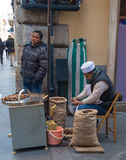 Chestnut seller Stock Photos