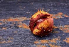 Chestnut in shell Stock Photo