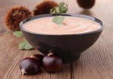 Chestnut soup Stock Image