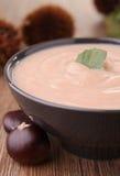 Chestnut soup Stock Photo