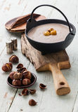 Chestnut soup Stock Images