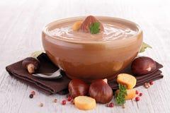 Chestnut soup Stock Photos