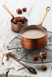 Chestnut soup Stock Photos