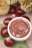 Chestnut spread. Close up on chestnut spread Stock Images