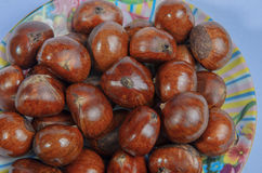 Chestnut. Sweet and aromatic chestnut Roasted Simplified Royalty Free Stock Photography