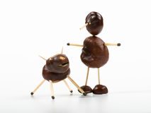 Chestnut toy Stock Images
