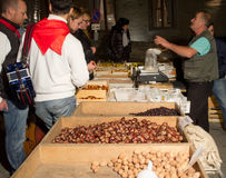 Chestnut vendor Stock Images