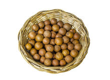 Chestnut in wicker dish Royalty Free Stock Photography