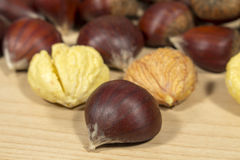 Chestnuts. Autumn food Stock Image