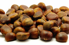 Chestnuts background. Background from a lot of chestnuts Royalty Free Stock Images