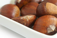 Chestnuts in a bowl Royalty Free Stock Photo
