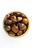 Chestnuts in a bowl Royalty Free Stock Photos