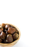 Chestnuts in a bowl Stock Image