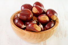 Chestnuts in bowl Royalty Free Stock Image