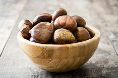 Chestnuts in a bowl Royalty Free Stock Image