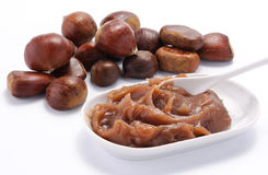 Chestnuts and chestnuts cream Royalty Free Stock Photo