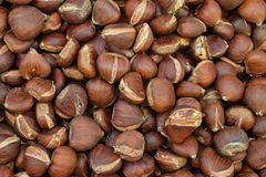 Chestnuts culinary nuts background stock photos