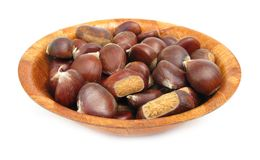 Chestnuts edible nuts on white Royalty Free Stock Photos