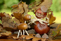 Chestnuts figure Royalty Free Stock Photography