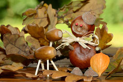 Chestnuts figure Stock Photos