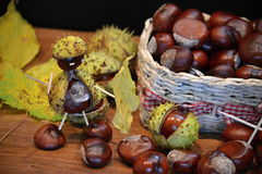 Chestnuts figure knight Royalty Free Stock Image