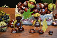 Chestnuts figure knight Stock Photo