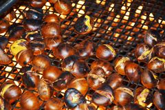 Chestnuts and fire Stock Photography