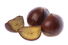 Chestnuts Isolated Royalty Free Stock Images