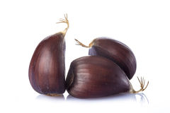 Chestnuts isolated on a white background Stock Photo