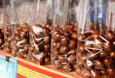 Chestnuts package Royalty Free Stock Images