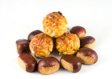 Chestnuts and panellets Royalty Free Stock Photo