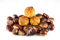 Chestnuts and panellets Stock Photography