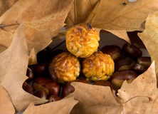 Chestnuts and panellets Stock Image