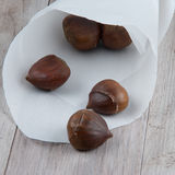 Chestnuts ready for roasting Royalty Free Stock Photos