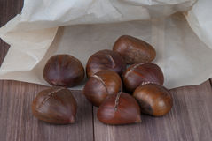 Chestnuts ready for roasting Royalty Free Stock Images