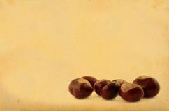 Chestnuts on retro background Royalty Free Stock Photo