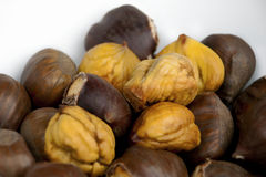 Chestnuts - roasted and peeled Stock Photo