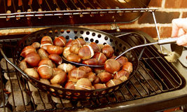 Chestnuts Roasting Royalty Free Stock Photography