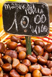 Chestnuts for sale Royalty Free Stock Photography