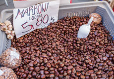 Chestnuts Sale Stock Image