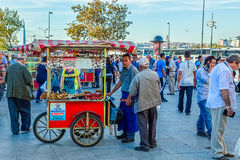 Chestnuts seller Royalty Free Stock Image