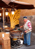 Chestnuts seller Royalty Free Stock Photos