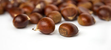 Chestnuts. Some chestnuts on the table Stock Images