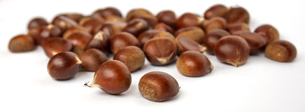 Chestnuts. Some chestnuts on the table stock image
