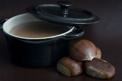 Chestnuts soup Stock Images